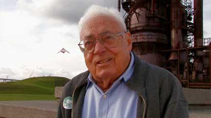 Richard Haag, designer of Gasworks Park, during interview for Lake Union History Website
